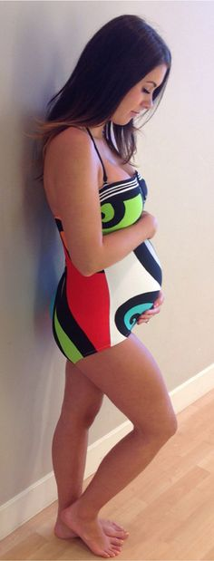 Pregnant Suit, One Piece, Swim, Summer Modest Maternity Swimsuit, Maternity Wear, Maternity Fashion, Stylish Maternity, Baby Bump Style, Mommy Style, Pregnancy Wardrobe, Pregnancy Outfits, Best Swimwear