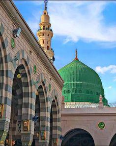 Beautiful Islamic Quotes, Beautiful Mosques, Islamic Inspirational Quotes, Al Masjid An Nabawi, Ramadan, Green Dome, Islamic Images, Madina, Prophet Muhammad