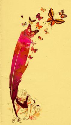 来自 mathiole的水彩 插画。绚丽的水彩色,喷溅的效果,手绘的线条,非常富有意味的作品,他的个人网站也是很有意思,一同来欣赏吧。更多 插画作品欣赏,可以参阅以下文章《 *Rocktuete水彩印象》《 桃EanY 水彩的童话梦》《 爱丽丝的童话淡色水彩漫画》。
