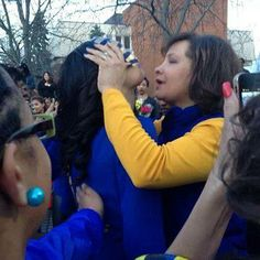 "Spring 2014 ""A teary moment as a Mother unveils her Legacy. What a bluetiful sight! ""  Sigma Gamma Rho Sorority, Inc.  Iota Epsilon Sigma Chapter  Woodbridge, Virginia  (via Progressive Greeks on Facebook)"