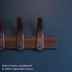 Walnut Wood Coat Rack Handmade Coat Hooks