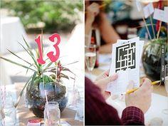 terrarium table numbers | VIA #WEDDINGPINS.NET