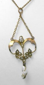 lavalier - and this one is missing the hook, which I still have on my chain!