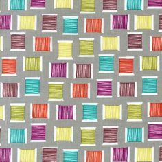 """Cotton Reels Grey"" -  Sewing Fabric Fat Quarter by Michael Miller"