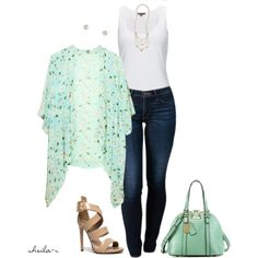 """Summer outfit-Over 40 Fashion"" by sheila-r on Polyvore"