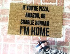 This doormat! ❤ #CharlieHunnam