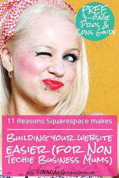 Find out why I recommend Squarespace as the best place to create your website for non techie Business Mums going the DIY route. A look at the features that make creating a well designed, functional website that is easy to customise with user friendly editing tools. Download the 3-page Pros and Cons comparison if you are still undecided or want more information to decide if Squarespace is really for you.