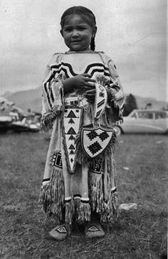 Minnie Crowfoot - Blackfeet (Pikuni) - circa 1955