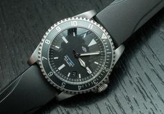 """The MK II Watches Fulcrum """"American Milsub"""" Dive Watch by James Stacey - Today on aBlogtoWatch.com """"Mk II is widely known for not only being one of the first online micro brands but also for producing a great many well made homages to many a great sport and military watch of the past..."""""""