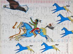 Fly Like an Eagle *Monte Yellow Bird Sr./Black Pinto Horse*