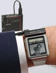 Collectible Seiko TV-Watch TR02-01 from 1982 television