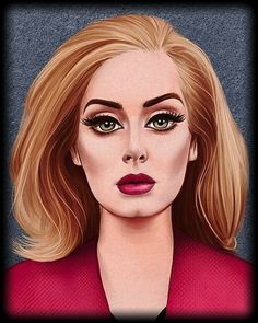 Celebrity Drawings, Celebrity Portraits, Adele Grammys, Adele Love, Adele Photos, Adele Adkins, Dita Von Teese, Celebs, Celebrities