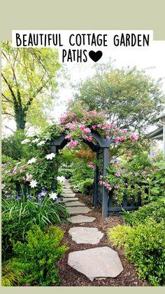 Garden Arbor, Garden Gates, Garden Planters, English Cottage Style, Country Chic Cottage, Ponds Backyard, Garden Planning, Garden Inspiration, Planting Flowers