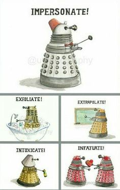 Daleks rather suit a fez. The Doctor won't be pleased.