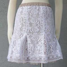 Romantic  White Lace With Contrasting Nude by Chuletindesigns, $60.00