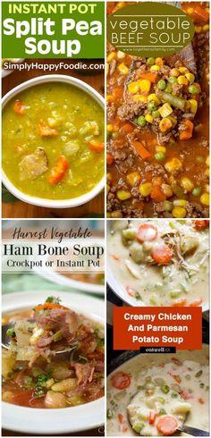 Harvest Vegetable Ham Bone Soup Recipe (Crockpot, Instant Pot, or Stovetop)   An...