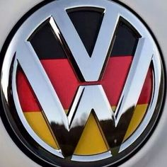 vw logo with german flag background