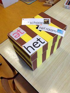 Het-woordendoos #nt2 #zienissnappen #_bazalt #hco Cube, Teaching, Teaching Manners, Learning