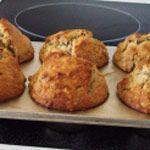 Muffins aux pommes sans gras
