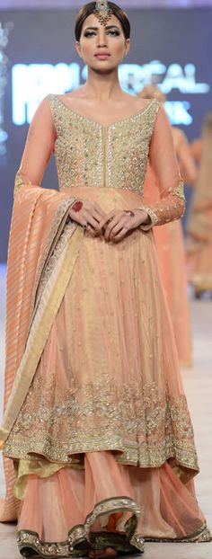 Asifa & Nabeel Collection at #PFDC L'Oreal Paris Bridal Week 2014 #lorealBridalweek #fashionweek #bridaldresses #pakistanidresses