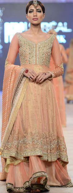 Asifa & Nabeel Collection at #PFDC L'Oreal Paris Bridal Week 2014 #lorealBridalweek #fashionweek #bridaldresses #pakistanidresses