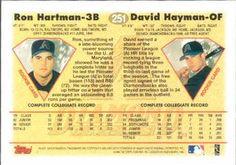 1997 Topps #251 David Hayman / Ron Hartman Back