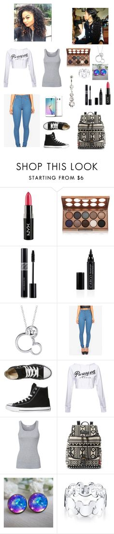 """""""School? #2"""" by sadira3 ❤ liked on Polyvore featuring NYX, Christian Dior, Samsung, CARGO, Disney, Converse, Splendid and UNIONBAY"""