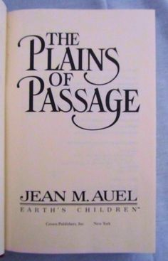 The Plains of Passage by Jean Auel (1990, Hardcover) Earth's Children Book #4