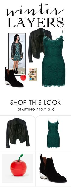 """""""slip dress"""" by vallyk ❤ liked on Polyvore featuring Donna Karan, Topshop, Opening Ceremony, Tony Moly, Jeffrey Campbell, women's clothing, women's fashion, women, female and woman"""