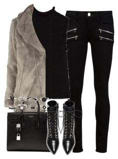 """""""Untitled #3991"""" by london-wanderlust ❤ liked on Polyvore featuring Paige Denim, Zara, Dorothy Perkins, Yves Saint Laurent, women's clothing, women's fashion, women, female, woman and misses"""