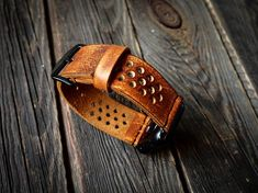 Retro Vintage Distressed Apple Watch Band Strap Handmade