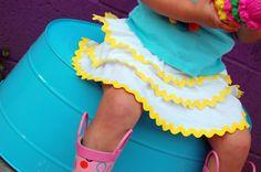 (mini-tut) Spring Chick Skirt - iCandy handmade