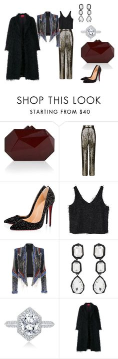 """Untitled #1620"" by steflsamour ❤ liked on Polyvore featuring Elie Saab, Alice + Olivia, Christian Louboutin, MANGO, AMBUSH and F.R.S For Restless Sleepers"