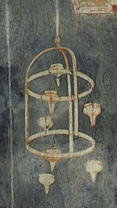 Hanging lamp in the Verification of the Stigmata by Giotto, 1300