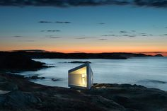A secluded cabin in Newfoundland.Fogo Island, Newfoundland Photography by Sanders Architecture This cabin is part of a series of artist retreats, designed and built to help restore culture to the island.