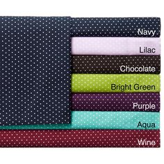 Add a pop of color to any bedroom decor with this sheet set featuring dots and available in a variety of seven colors. Made of soft and durable microfiber, these sheets are machine washable for easy care and repeated use.