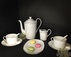 Service à café empire avec filet platine #porcelaine #cups #recette #thé #coffee #tea
