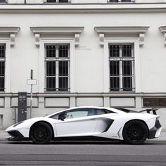 Lamborghini Aventador Super Veloce Coupe painted in Bianco Isis  Photo taken by: Carspotting made in Germany on Flickr