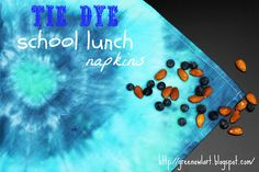 Green Owl Art: Tie-Dye Napkins for School Lunches
