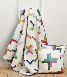Macaroni Twist quilt and cushions by Ashley Newcomb for Issue 18 of Love Patchwork & Quilting magazine