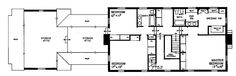 Home Plans HOMEPW14194 - 3,405 Square Feet, 3 Bedroom 3 Bathroom Georgian Home with 2 Garage Bays