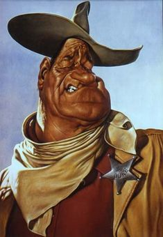 John Wayne Caricature    Words cannot describe how talented Sebastian Kruger is at drawing caricatures  To view more of Sebastian's breathtaking