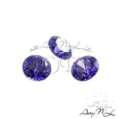 10pcs AAAAA 3mm Violet Cubic Zirconia Round Shape by AoryNL