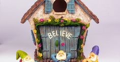 """The Adorable Believe Fairy Garden House - 8"""" tall - Hand Painted (with Doors that Open) by Twig & Flower. for http://ift.tt/2gUqHTb"""