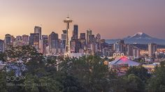 Seattle Supersunset by roadtothemoon http://ift.tt/1qZny9k