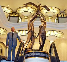 Harrods owner, Mohammad Al-Fayed unveils his tribute to his son, Dodi and Princess Diana. The bronze statue is an idealized portrait of the couple in which they release an albatross together, a symbol of eternity. The statue will be on display in Harrods and is rumored to become a traveling exhibit in the future. So, far the British public is split on the artisitc merit of the tribute to The People's Princess and her companion