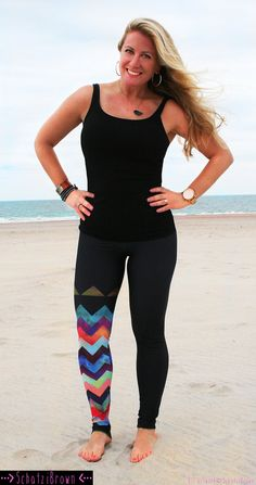 LEGGING 'MONTAUK Chevron' Style Legging for SURF by SchatziBrown