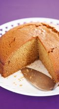 2 cups flour 1 tsp baking powder 1 cup sugar 1 tbsp ground ginger 2 tsp mixed spice 250g butter ¼ cup golden syrup 1 tsp baking soda 1 cup milk, warmed 2 eggs, lightly beaten1. Heat oven to 150