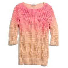 neon fade sweater / madewell
