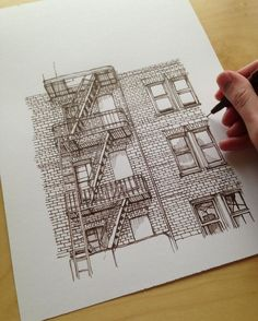 #art #drawing #pen #sketch #illustration #linedrawing #architecture